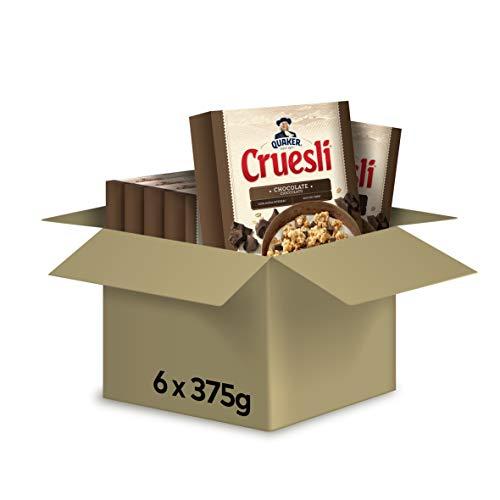 Quaker Cruesli Choco, Caja De 6 Packs De 375 2250 g
