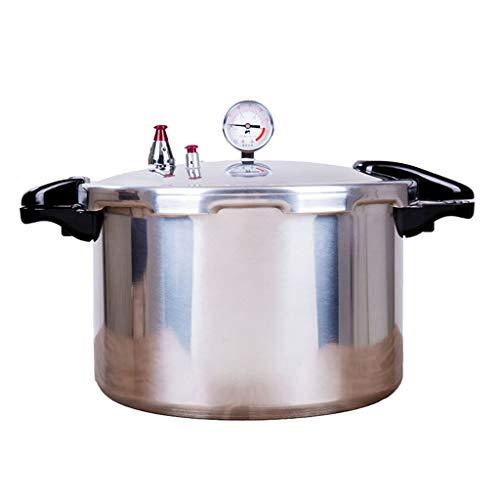 Olla a presión con manómetro, aleación de aluminio de gran capacidad del...
