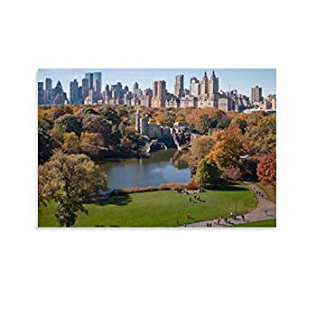 xiaoyanyan New York City Central Park Walk in The Park Poster Decorative Painting Canvas Wall Art Living Room Posters Bedroom Painting 16x24inch 40x60cm