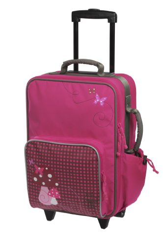 LÄSSIG Trolley Kinderkoffer / Reisekoffer für Kinder Mushroom magenta