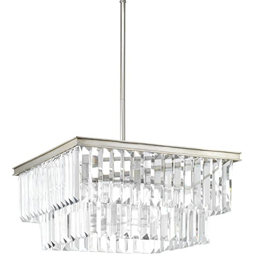 Progress Lighting P500109-134 Glimmer Four-Light Pendant, Grey