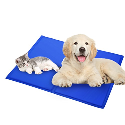 OMORC Pet Cooling Mat, Cold Gel Pad for Dogs and Cats, Perfect for Floors, Couches, Car Seats, Pet Beds Kennels(19.7 x 23.6 inch)