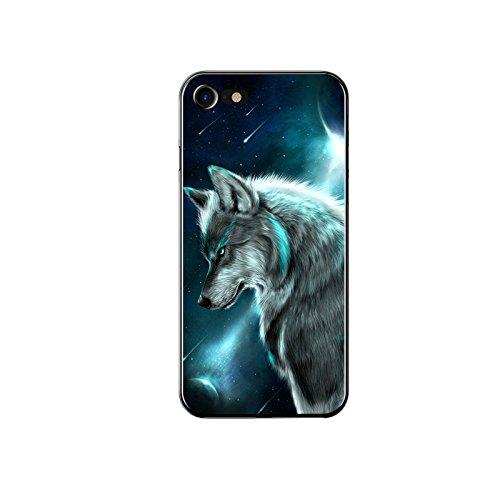 iPhone SE 2020 Case/iPhone 8 Case/iPhone 7 Case-Cool Animal Pattern Soft TPU Protective iPhone SE 2020 Case/iPhone 8 Case/iPhone 7 Case by FancyCase (Wolf Style)