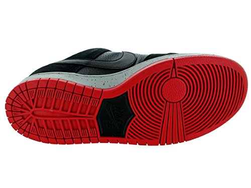 """Nike Mens Dunk Low Pro SB Bred 4"""" Black/Wolf Grey-University Red Synthetic Size 12"""