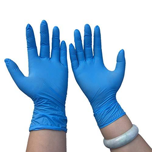 QIFENYEDENG Einweg-Nitrilhandschuh für farbige Prüfungen , Zur Untersuchung FDA-Lebensmittel-Einweghandschuhe , l