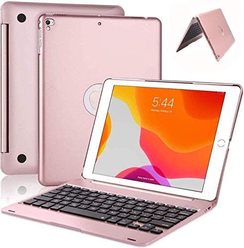 iPad Keyboard Case for 9.7 inch New 2018 iPad 6 ((6th Gen)/2017 iPad 5 (5th Gen) and iPad Pro 9.7 Cover / iPad Air / iPad Air 2 Folio Case with Keyboard Wireless Bluetooth - Ultra Slim ipad Cover