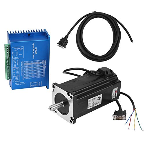 Servocontrolador híbrido, HSS86 0~3000rpm AC20V ~ 80V / DC30~110V 250W Driver + NEMA34 Servo motor paso a paso de alta velocidad de circuito cerrado 12N.M Admite protección contra sobrecorriente