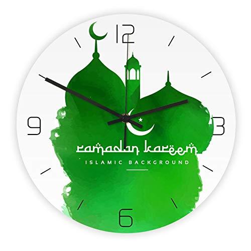 YIBOKANG Muslim Mosque Pattern Dimensional Acrylic Wall Clock Bedroom Living Room Dining Decorative Quartz Clock Table