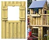 bambus-discount.com Spielturm Wandelement mit Fenster aus Holz, 90x139cm - Kinderspielgeräte für...
