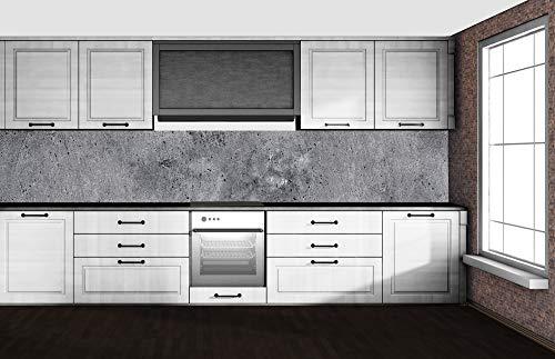 DIMEX LINE Küchenrückwand Folie selbstklebend Beton 350 x 60 cm | Klebefolie - Dekofolie - Spritzschutz für Küche | Premium QUALITÄT