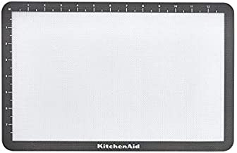 KitchenAid Silicone Baking Mat, 9x14-Inch, Gray