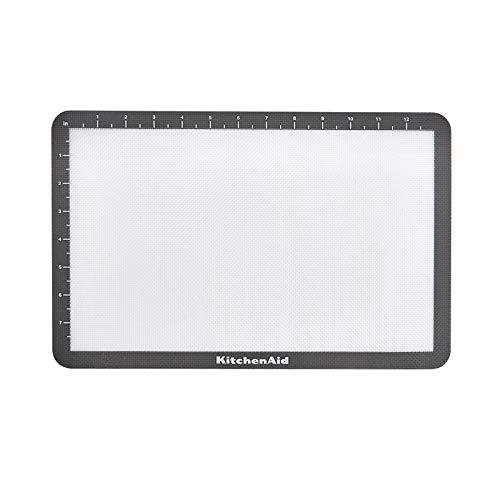KitchenAid Silicone Baking Mat, 9x14-Inch, Gray