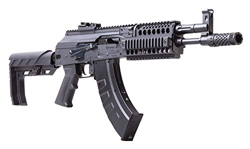 Crosman CAK1 Full or Semi-Auto CO2-Powered 4.5mm BB Air Rifle, Black