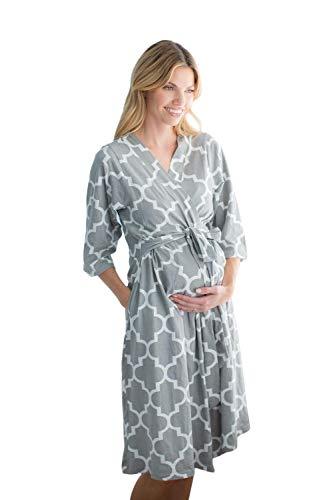 Baby Be Mine Maternity/Labor/Nursing Robe Hospital Bag Must Have (S/M pre...