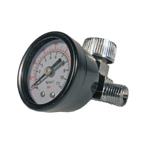 Druckluft Druckregulierung regelt stufenlos zwischen 0 und 8,6 bar - Druckminderer Manometer