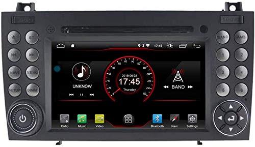FACAIA Cortex Car DVD Player GPS Stereo Head Unit Navi Radio Multimedia WiFi Compatible con Mercedes Benz SLK R171 2004-2011 Soporte Control del Volante