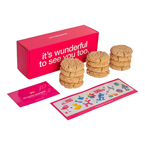 Wunderkeks Home Made Cookies – Dozen Handmade Cookies, Individually Wrapped Hand Baked Cookie Snacks – 12 Delicious Homemade Treats Made with Real Butter (Snickerdoodle)