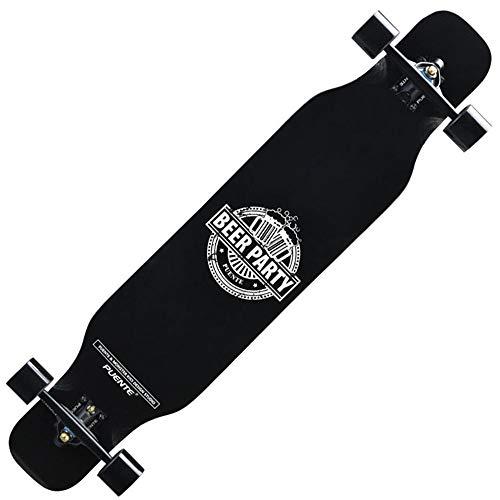 FUFU Patinetes Skateboard Patineta de Truco de 46' Cubierta de Arce de 8 Pisos Crucero Completo Adecuado for Montar Gratis Adolescente Adulto Capacidad de Carga 330 lbs. Patinetes para niños