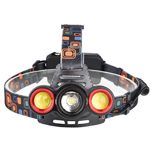 SHIYIMY Linternas Frontales Faro Recargable Cabeza 10000LM Cabeza de la lámpara Linterna LED de la antorcha 18650 Faro for la Caza de Camping iluminación (Emitting Color : D)