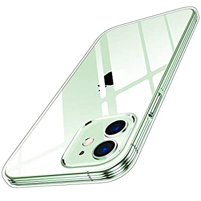 Humixx Compatible with iPhone 12 Case/iPhone 12 Pro Case Crystal Clear [ 12X Anti-Yellow ] [ Military-Grade Drop Tested ] Shockproof Soft TPU Rubber Cover for iPhone 12/12 pro 5G, 6.1 inch