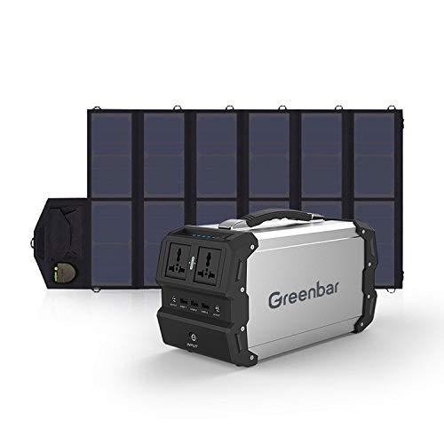 MSG ZY Central eléctrica portátil, generador portátil de 220V / 400W para Exteriores, generador Solar (Panel Solar Opcional) Energía móvil para Acampar al Aire Libre,120000mAhB