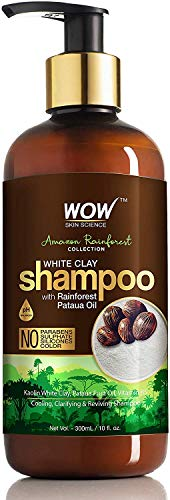 Glamorous Hub WOW Amazon Rainforest Collection Champú de arcilla blanca con aceite de Rainforest Pataua Sin parabenos, siliconas de sulfato y color 300 ml (el empaque puede variar)