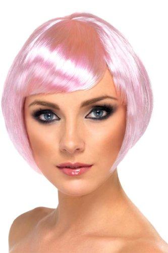 Perruque cabaret courte rose femme