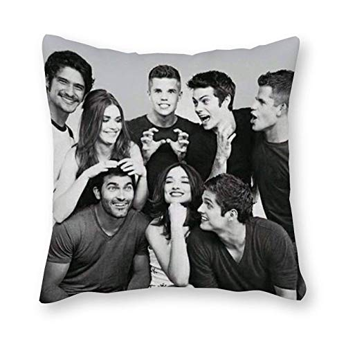 BRPOSOILYS Teen Wolf Cushion Pillow Canvas Pillowcase Single - Without Filling Pad - 40x40cm (Cover Only)