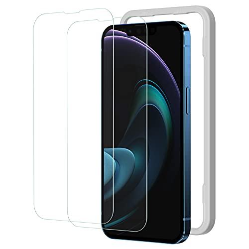 NIMASO ガラスフィルム iPhone13promax 用 強化 ガラス 保護 フィルム ガイド枠付き 2枚セット NSP21H286