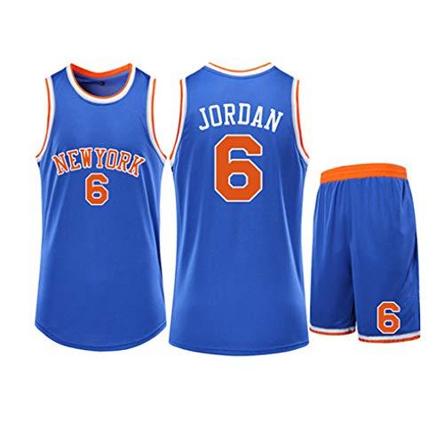 Fans Jersey Baloncesto NBA Walter Frazier 10 New York Knicks Jerseys Cl/ásicos C/ómodas Camisetas Deportivas De Malla Transpirable,Blue-S