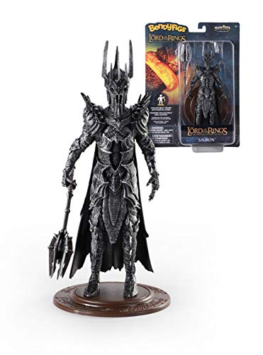 The Noble Collection LoTR Bendyfigs Sauron - Officially Licensed 19cm (7.5 inch) Lord Of The Rings Bendable Posable Collectable Doll Figures With Stand