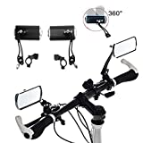 Twshiny Bike Mirrors, 1 Pair Aluminium Mountain Bicycle Motor Scooter Rear View Back