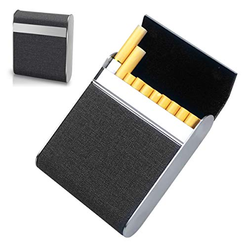 Zigarettenetui Edelstahl, Netspower Zigarettenbox mit Magnetverschluss Metall 20pcs Zigaretten Kasten Zigarettencase Zigarettenhülle Elegant Feuchtigkeitsgeschützte für Frau Vater Mann Business-1Stück