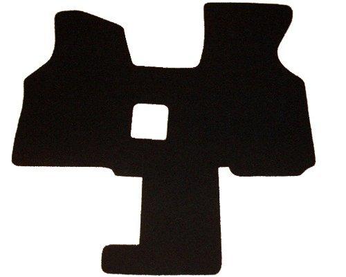 autix 233 Fußmatte Schmutzfangmatte Vließvelour schwarz 2 Sitzer