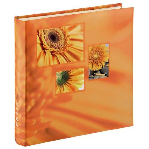 Hama Jumbo Fotoalbum Singo (Fotobuch 30x30 cm, Album mit 100 weißen Seiten, Photoalbum zum Einkleben und zum Selbstgestalten) orange