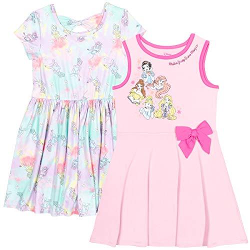 Disney Princess Ariel Snow White Rapunzel Belle Cinderella Toddler Girls 2 Pack Dress 5T