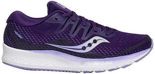 Saucony Ride ISO 2 - Zapatillas para Mujer, Color Negro y Dorado, Color Morado, Talla 41 EU