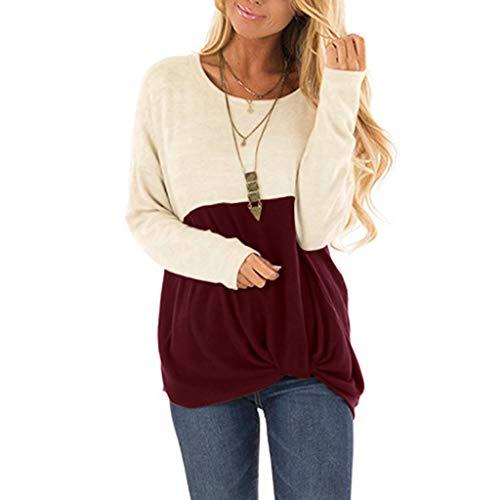 Cheapest Price! Amlaiworld Women's Winter Fahion Casual Shirts Twist Knot Tunics O-Neck Top Blouse O...