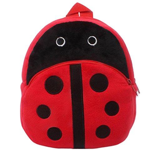 Winkey Rucksack für Kinder/ Baby, Mädchen und Jungen, niedlich, Schultasche, Umhängetasche Ladybug 20x24cm wide 20cm x height 24cm