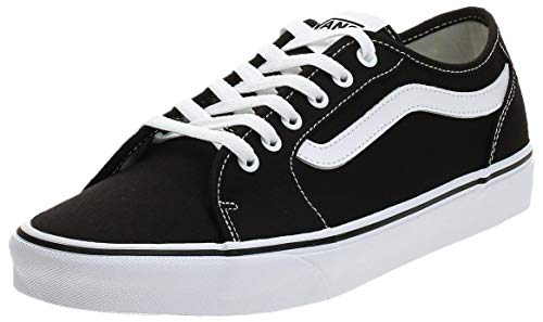 Vans Herren Filmore Decon Sneaker, Schwarz ((Canvas) Black/White 187), 46 EU