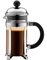 Bodum CHAMBORD Kahve makinesi(French Press sistemi, taşma koruması, paslanmaz çelik çerçeve)