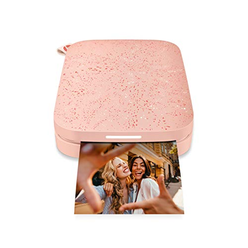 HP Sprocket Portable 2x3 Instant Photo Printer (Blush Pink) Print Pictures on Zink Sticky-Backed Paper From Your iOS & Android Device