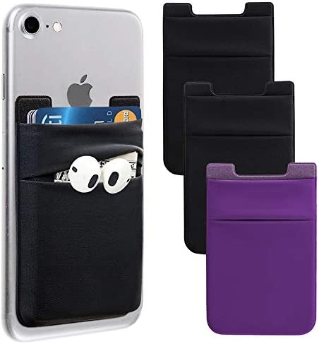 Phone Card Holder Stretchy Lycra Wallet Pocket Credit Card ID Case Pouch Sleeve 3M Adhesive product image