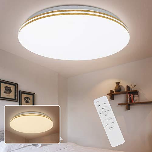 LEDシーリングライト 30W ~8畳 10段階調光/調色 寝室照明 LEDライト 常夜灯モード 明るさメモリ機能 スリープタイム設定モード 引掛シーリン 室内 薄タイプ 簡単取付 3000lm ダイニング キッチン リモコン おしゃれ 北欧 部屋 和室