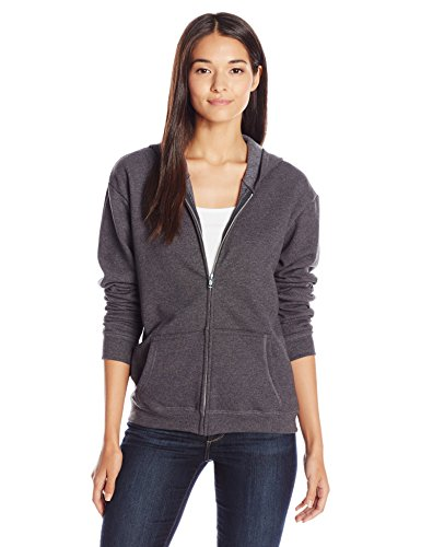 Hanes Women's Full-Zip Hooded Jacket, Slate Heather, Small