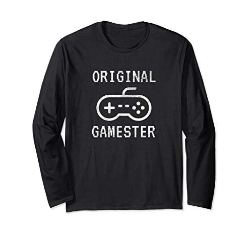 Original Gamester with Video Game Controller Long Sleeve T-Shirt
