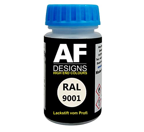 Alex Flittner Designs Lackstift RAL 9001 CREMEWEISS seidenmatt 50ml schnelltrocknend Acryl