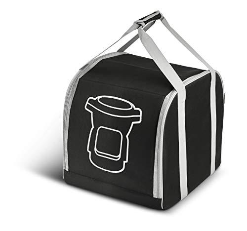 Moulinex Bolsa almacenaje Companion XF38L8 Bolsa de transporte con 2 bolsillos acolchados, base interior reforzada, asas extragrandes, fácil de lavar y guardar, para robot cocina Companion/iCompanion