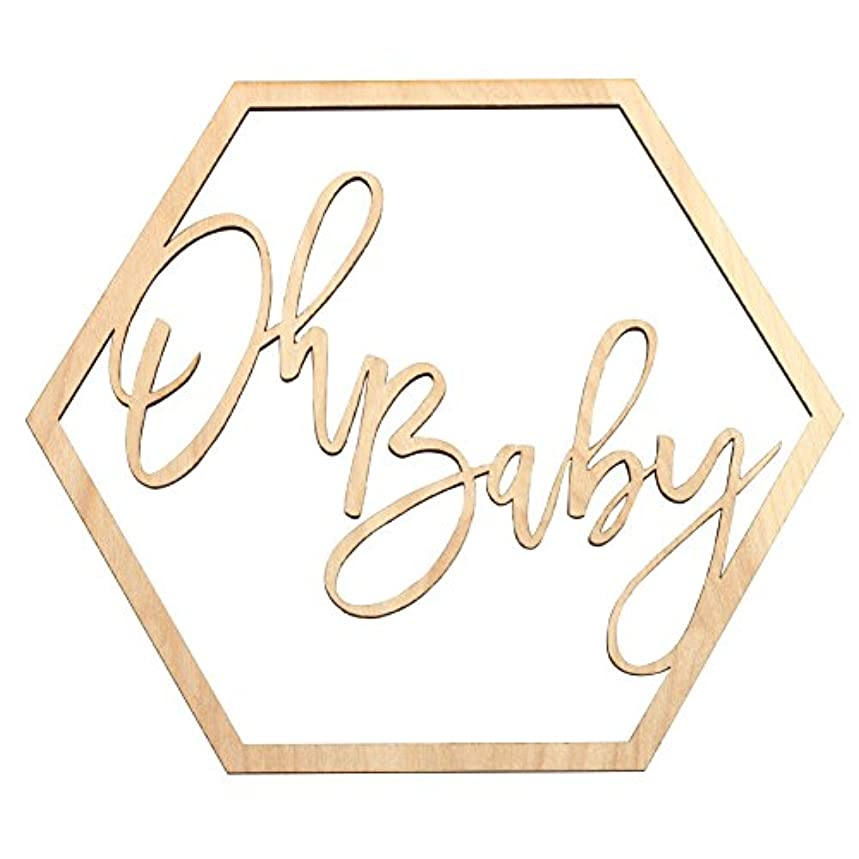 Koyal Wholesale Wood Oh Baby Sign, Party Banner, Event Decorations for Baby Shower Decorations, Backdrop, Photo Prop, Gender Reveal (Oh Baby)