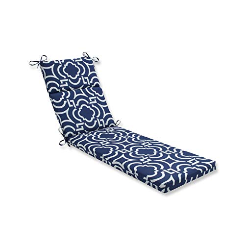 Pillow Perfect Outdoor/Indoor Carmody Navy Chaise Lounge Cushion, 72.5 in. L X 21 in. W X 3 in. D, Blue